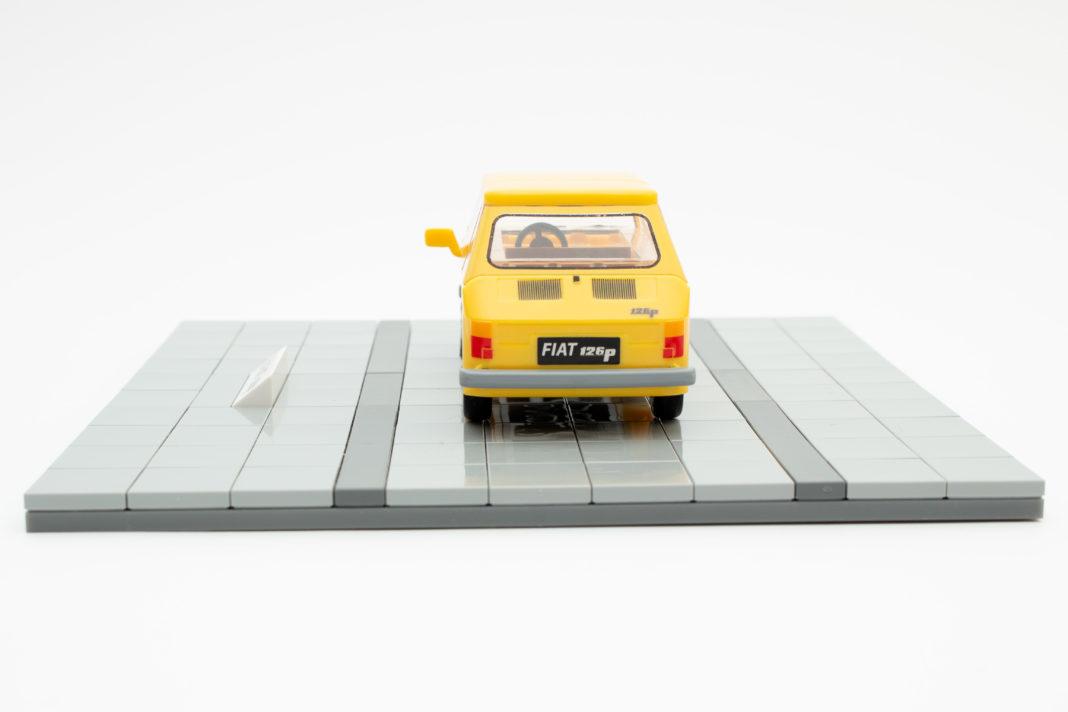 Auch das Heck des Fiat 126p von COBI ist aus einem Stück gefertigt und komplett bedruckt.