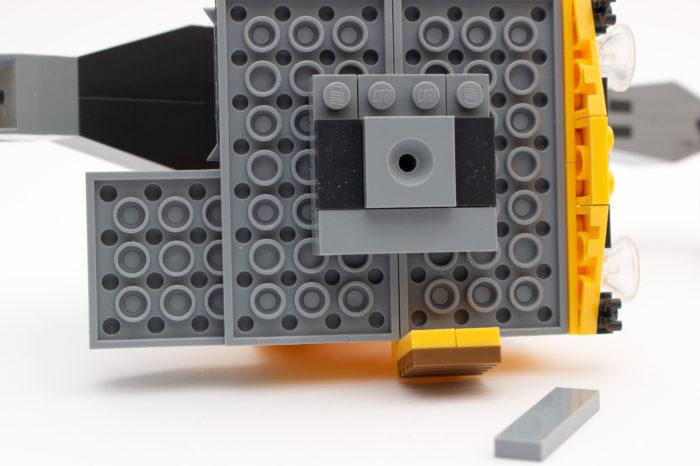 Ein Beispiel für die Umkehr der Baurichtung beim Kran
