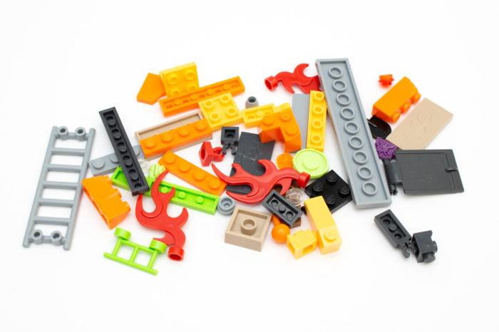 Viele Teile bleiben am Ende übrig und können als Schutt verwendet werden