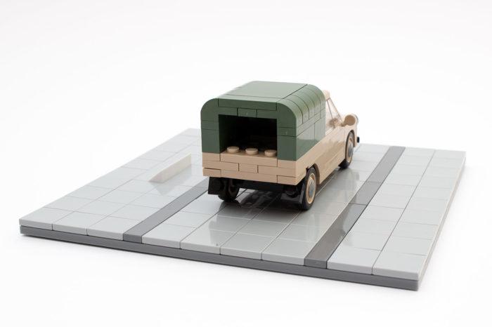 Der Syrena R20 mit kleiner Ladefläche
