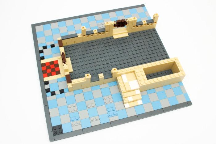 Nach rund einer Stunde Bauzeit nimmt das Landhaus erste Formen an