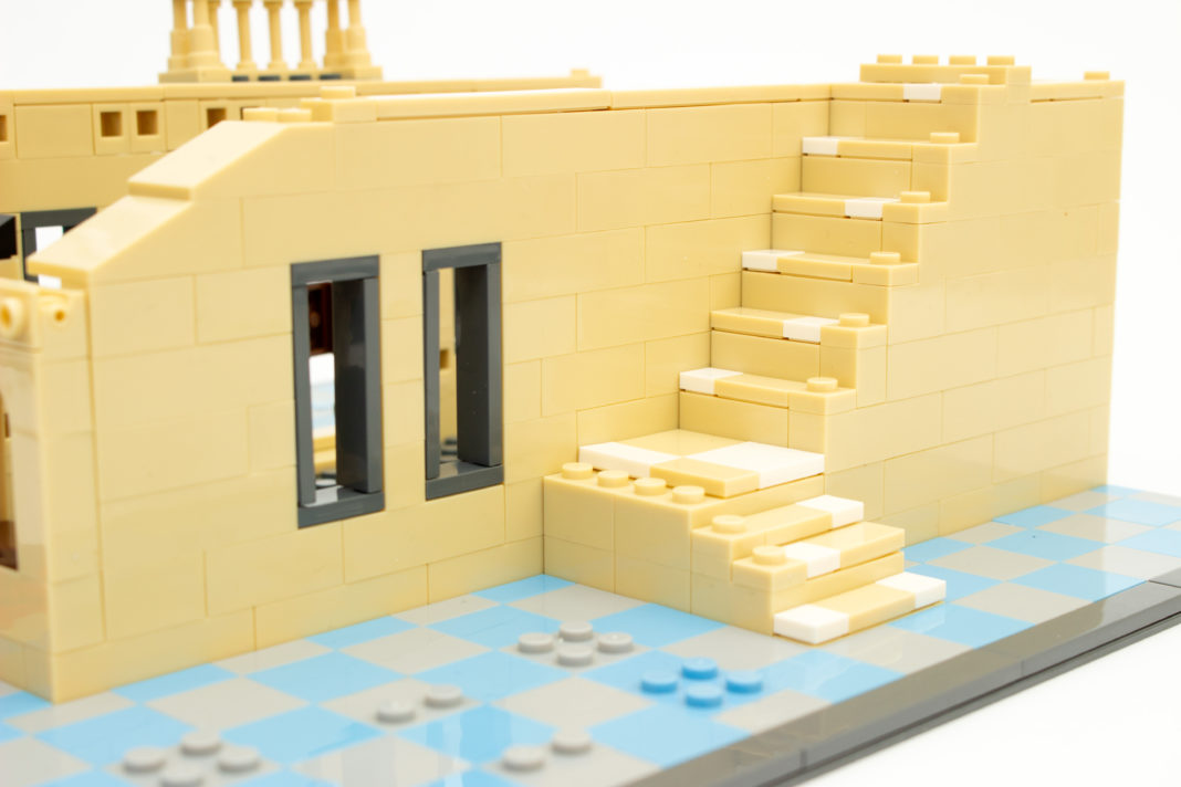 Die Treppe des Landhauses ist schon im frühen Baustadium schön anzusehen