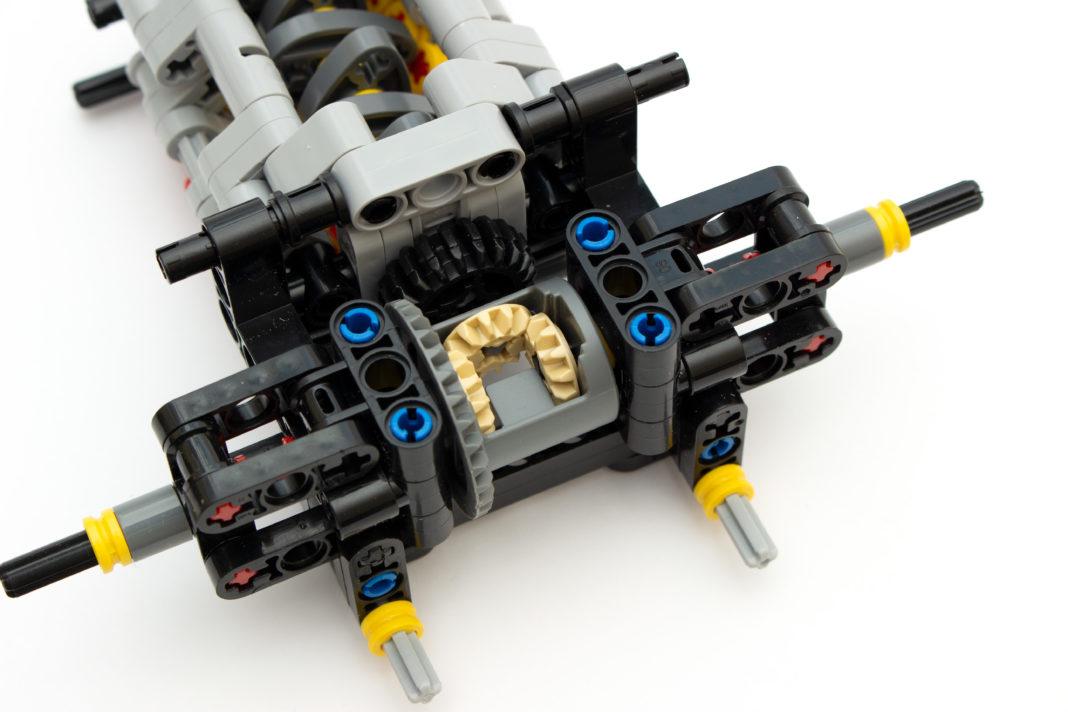 Das Differentialgetriebe des XB-07002 ist etwas schwergängig