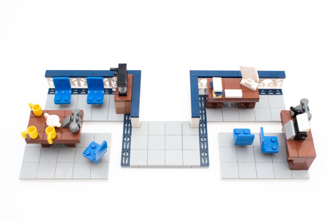 Die erste Etage mit Büro und Aufenthaltsraum