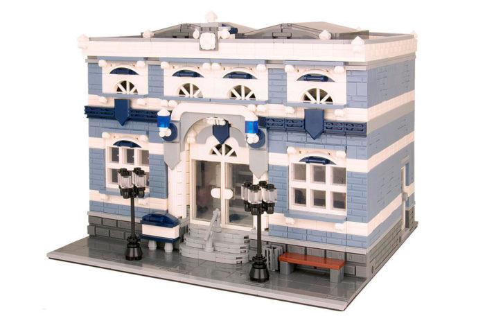 Bluebrixx klassische Polizeistation ist ab sofort erhältlich. Quelle: Bluebrixx