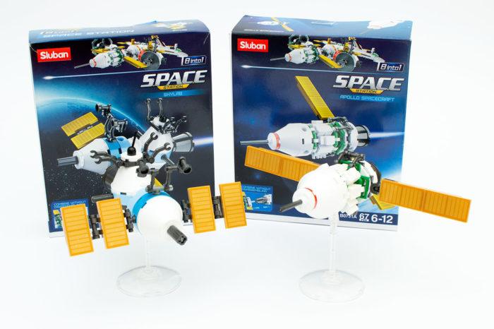 Die ersten beiden fertigen Modelle von Slubans neuer Space-Reihe