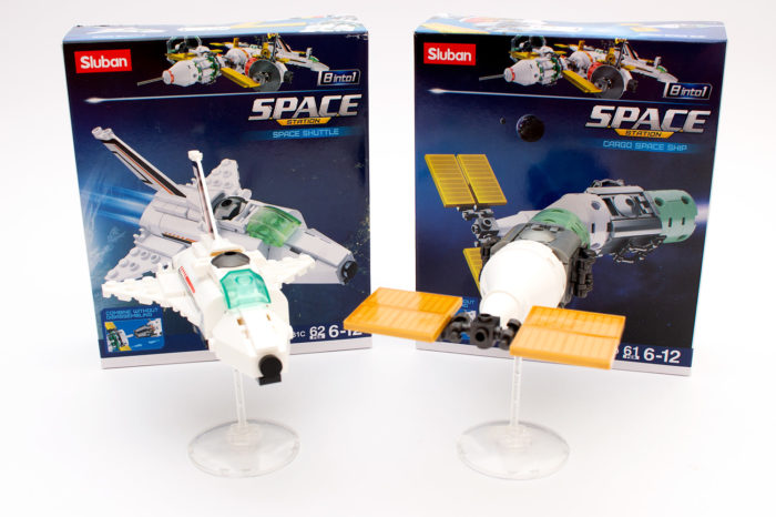 Sluban M38-B0731C Space Shuttle und M38-B0731D Cargo Space Ship im Review