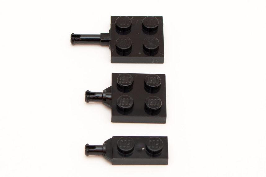 Verschiedene Achsen für Reifen und Zahnräder