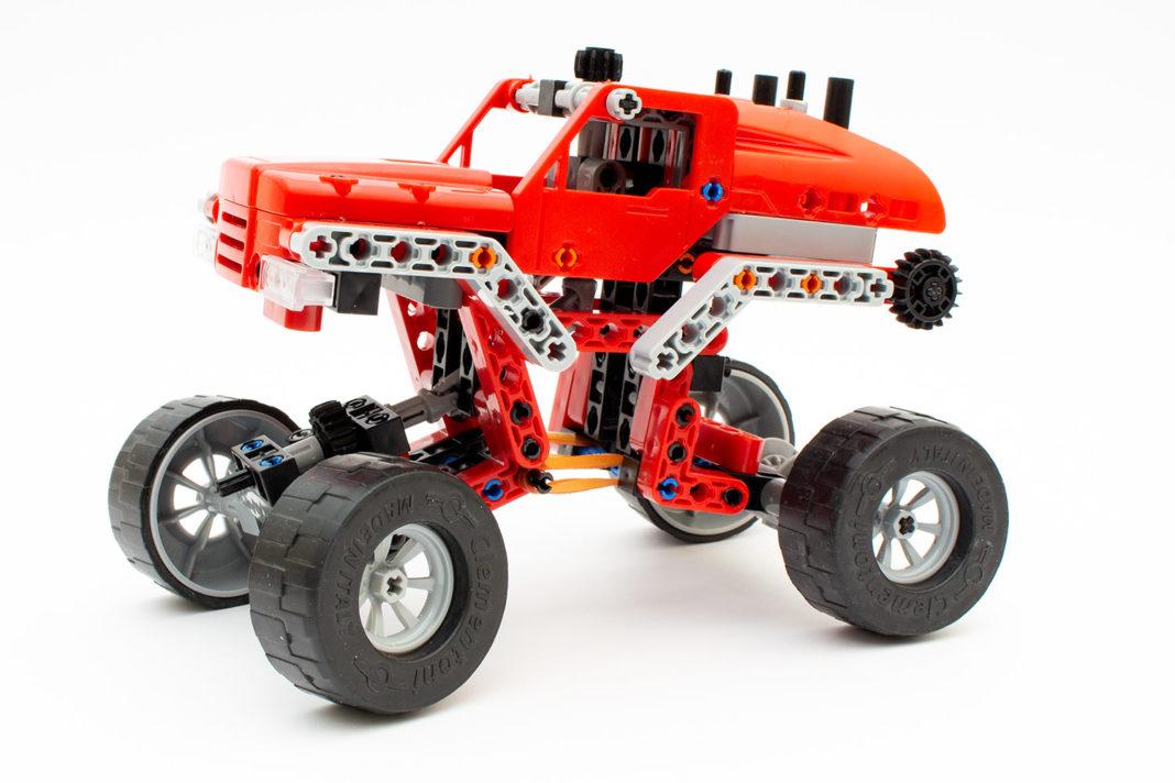 Das fertige Modell des Monster Trucks überzeugt nur bedingt