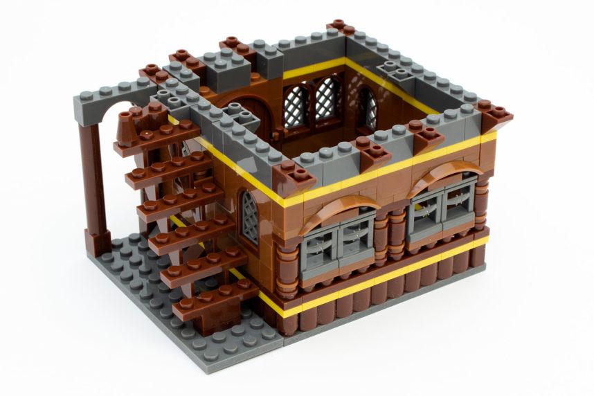 Das Haus kann auch zusammengeklappt bespielt werden