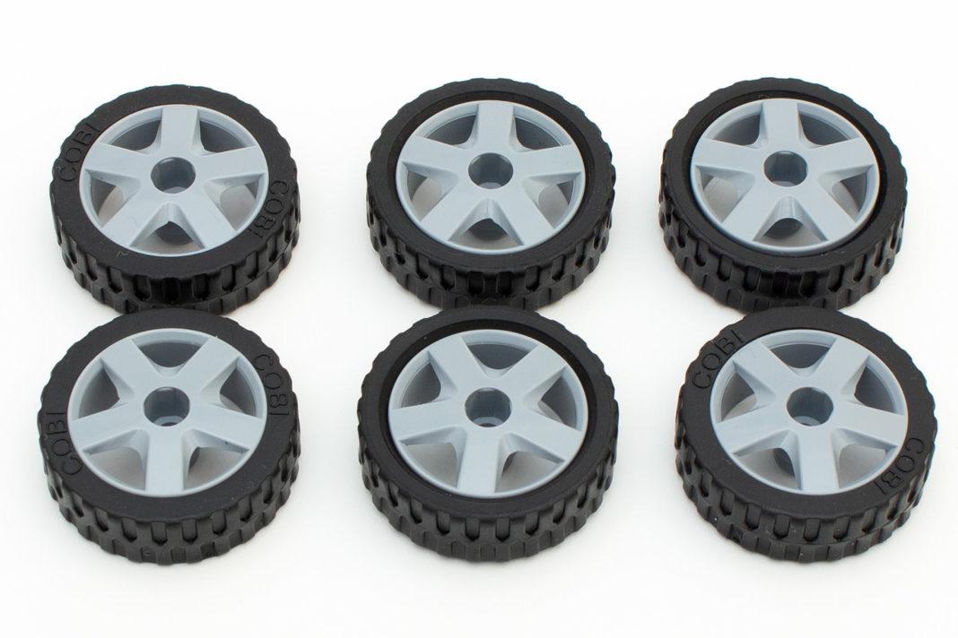 Die weichen Reifen sorgen für gute Haftung