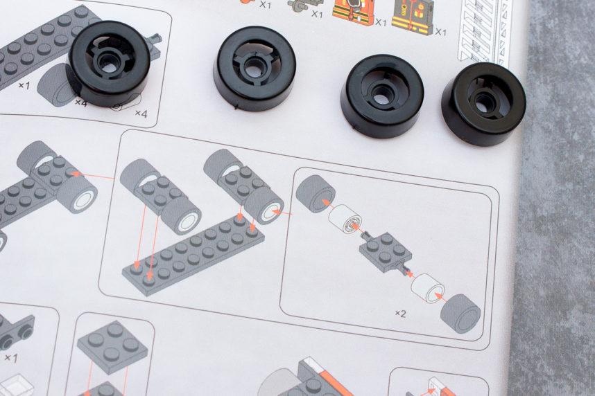 Kunststoffräder statt der angegebenen Gummireifen