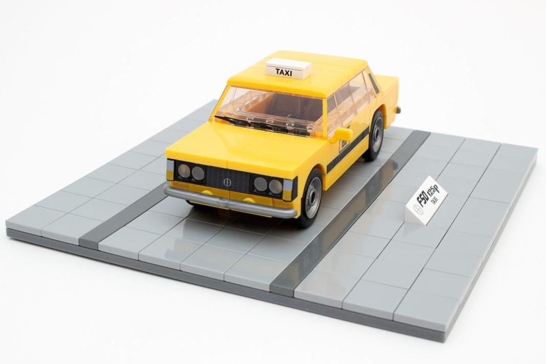 Der fertige FSO 125p in der Taxi-Variante