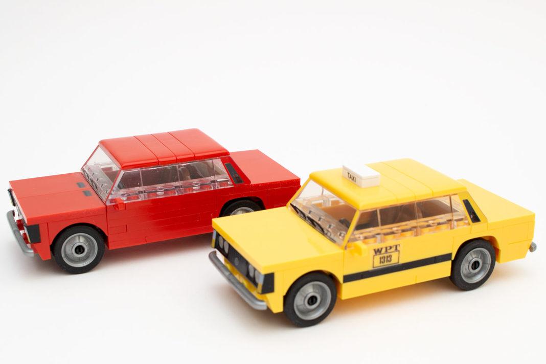 Der fertige FSO 125p in der Taxi-Variante und seine normale Version