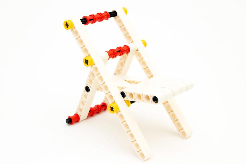 Der Klappstuhl - ein eher einfaches Modell