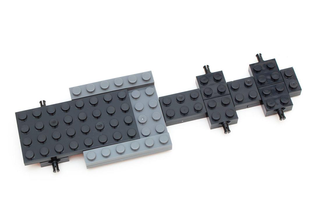 Im Aufbau sichtliche Unterschiede zum Feuerwehrwagen von Lego