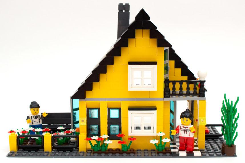 Das fertige Haus lädt zum Spielen ein