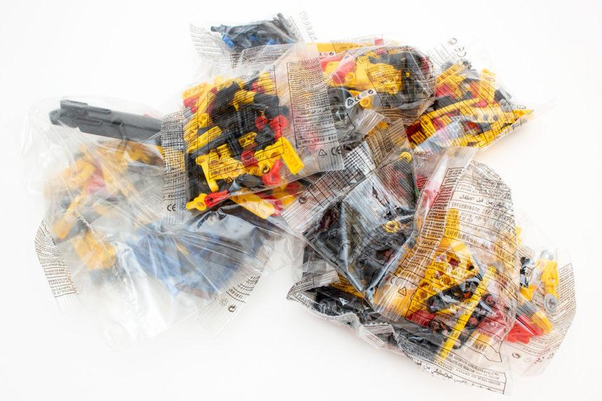660 Teile in 10 Tüten verpackt