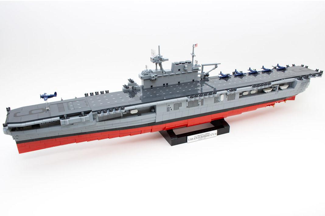 Das fertige Modell der Enterprise (CV-6) von Cobi