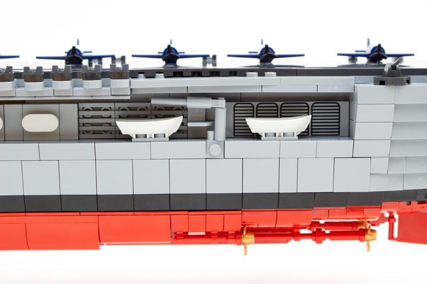 Die Flugzeuge und Rettungsbote der Enterprise (CV-6)