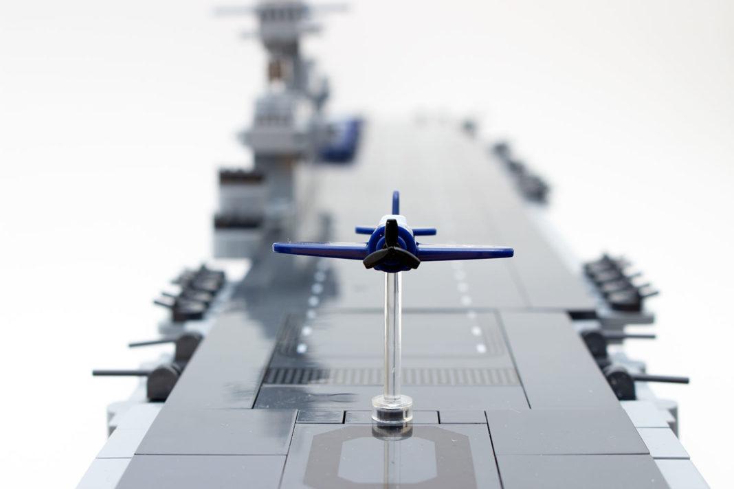 Die Illusion eines startenden Flugzeuges