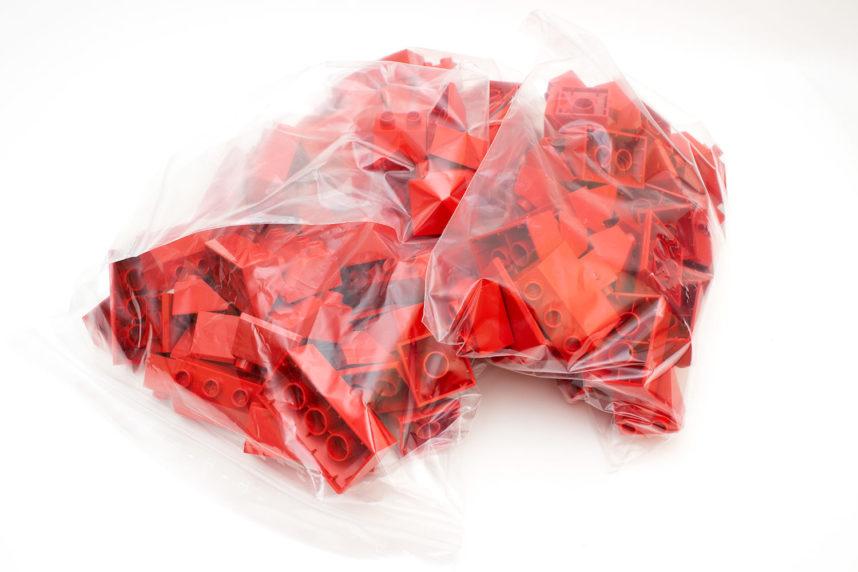 124 Teile umweltfreundlich in wiederverschließbare Tüten verpackt
