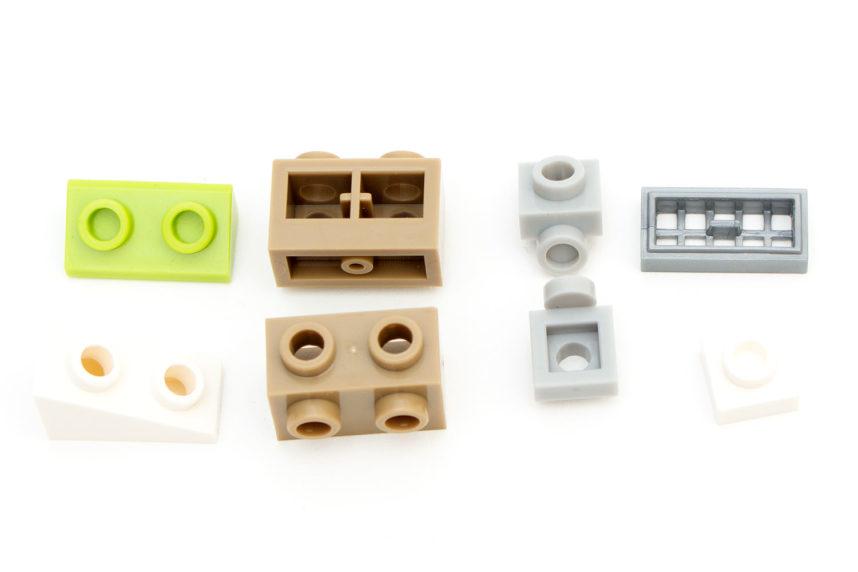 Teile mit gleicher Funktion wie bei Lego, aber anderem Erscheinungsbild