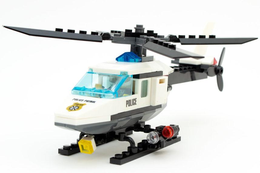 Der fertige Polizeihubschrauber KB 6729 von Blocki