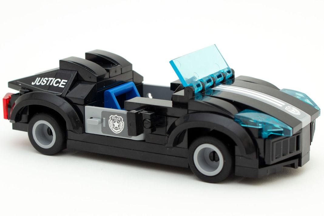 Das fertige Polizei-Cabrio mit Gokart-Flair