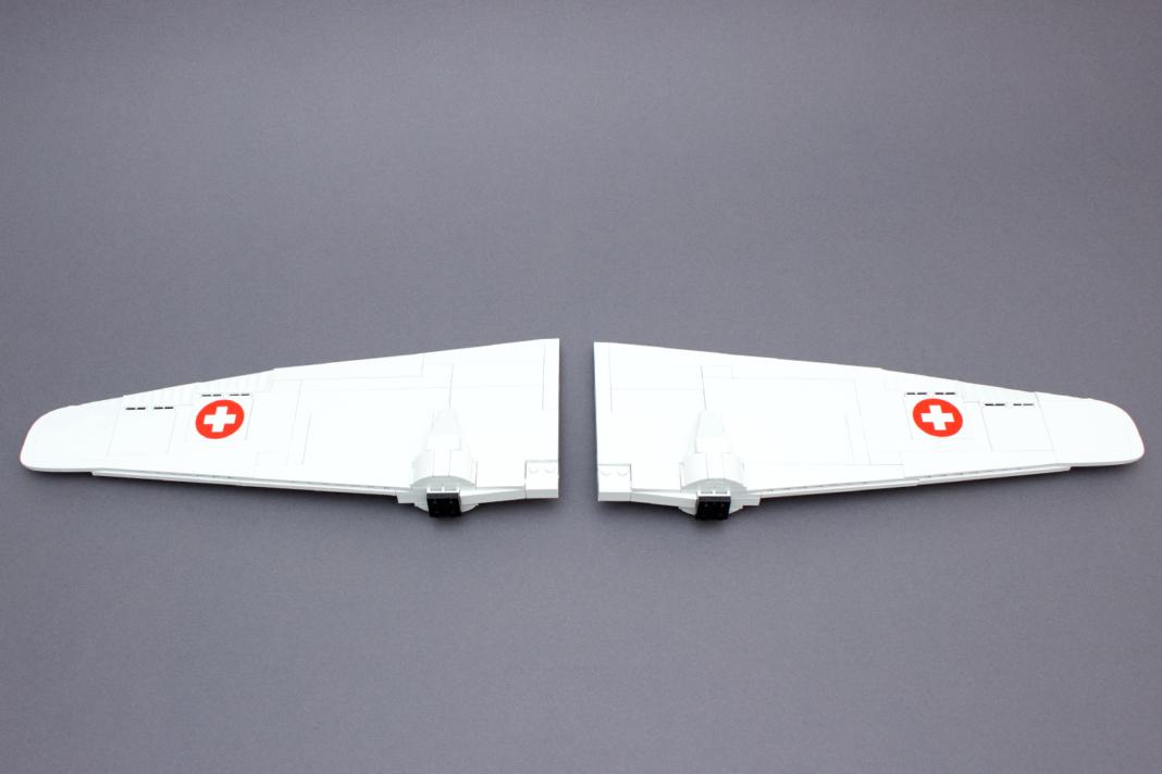 Die Flügel geben bereits einen Ausblick auf die Größe des Modells