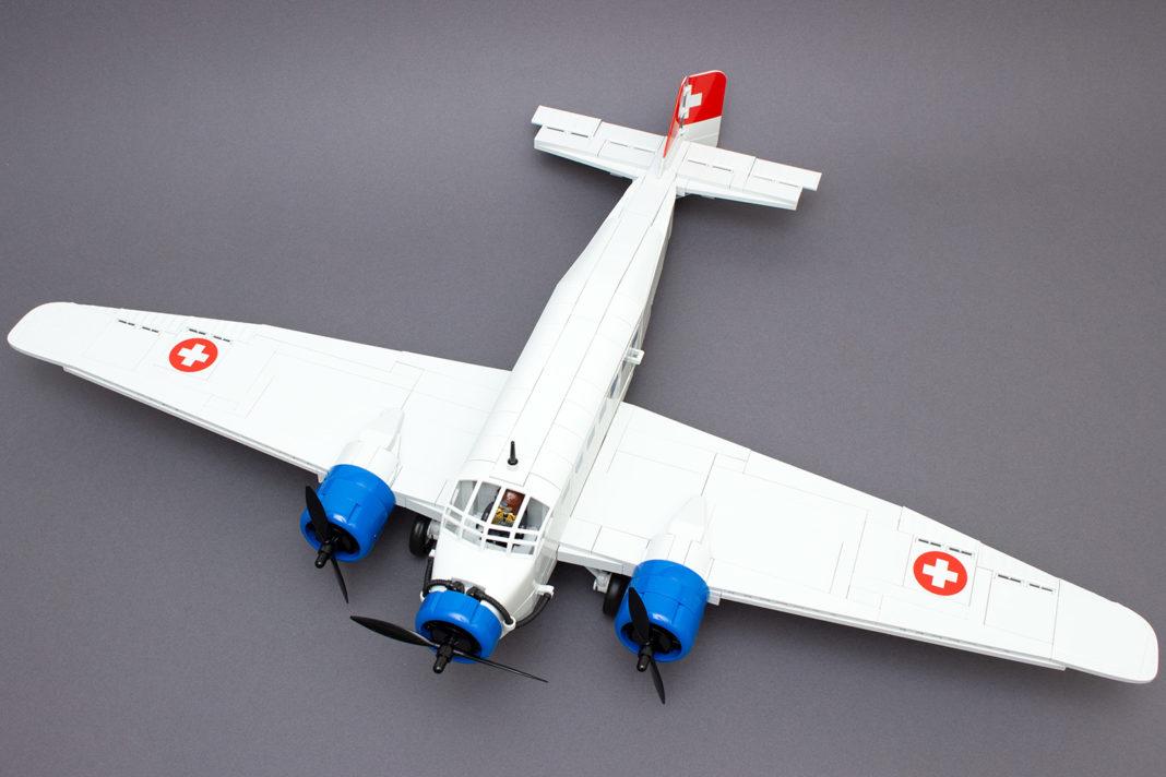 Die fertige Ju 52/3m sieht imposant aus, offenbart aber deutliche Schwächen