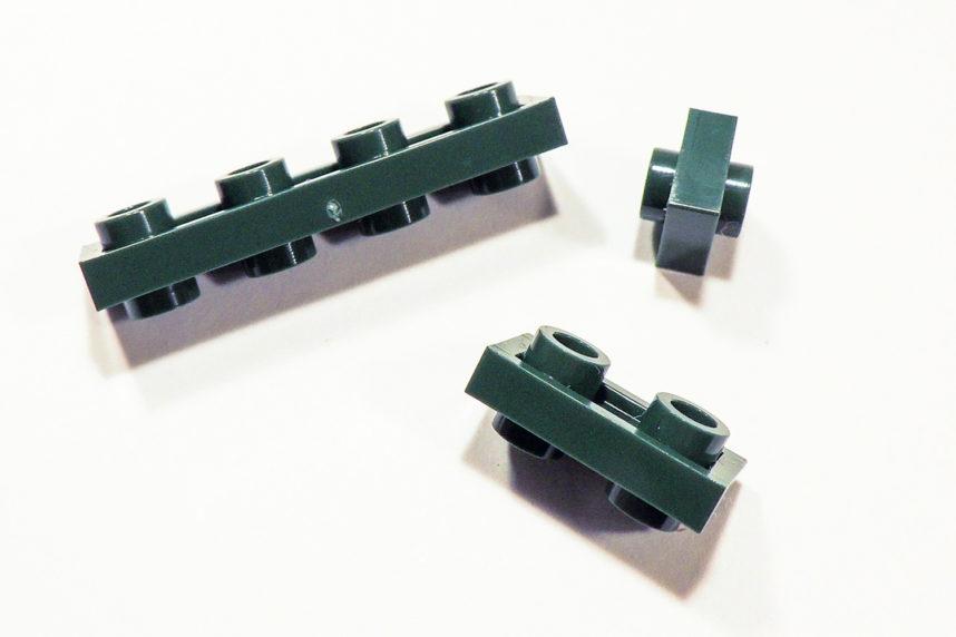 Eine Auswahl von Baurichtungsumkehrer (BRU) von Cobi als 1x1, 1x2 und 1x4.
