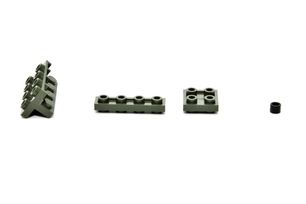 """Verschiedene Arten der Baurichtungsumkehr: 90°, 180° 1x4 und 2x2 sowie die """"Bügelperle"""""""
