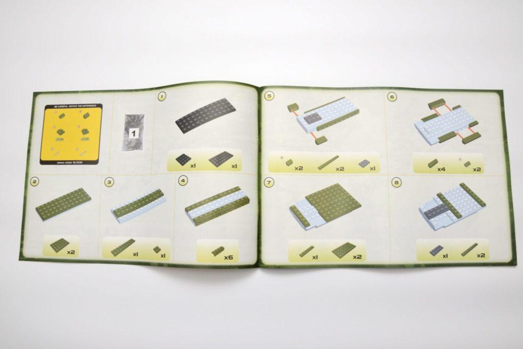 Die Bauschritte 5 und 6 greifen als erstes auf die Zuordnung im gelben Kasten links oben zurück