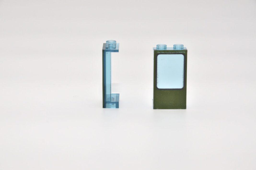 Eine bedruckte transparente Paneele dient als Fensterelement