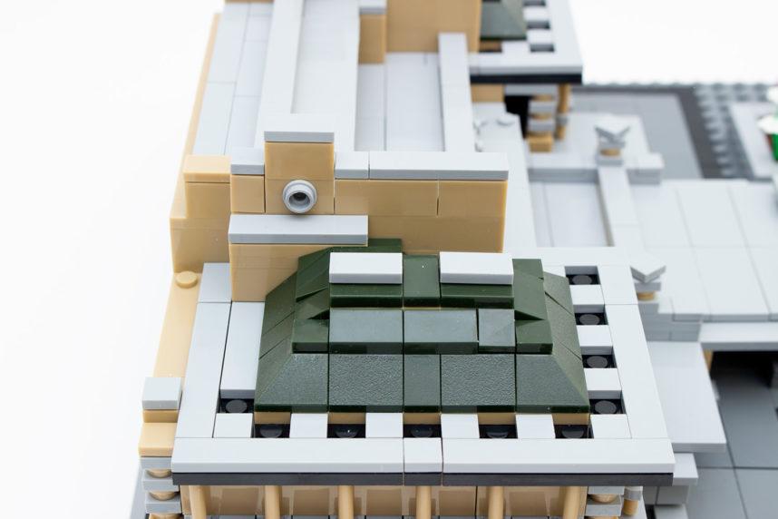 Das Dach ist bei Wange anders umgesetzt als bei Lego