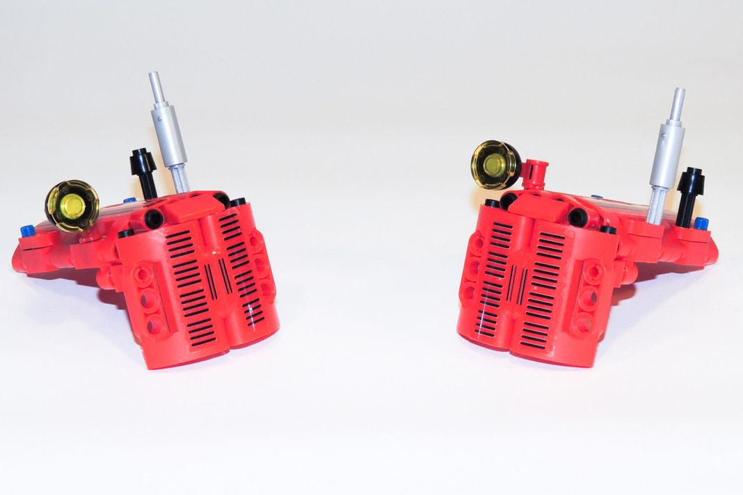 Nur 57 Teile machen eine optisch vollwertige Motorhaube aus.