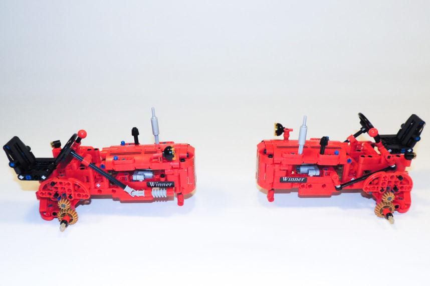 Interessante Übersetzung von der Antriebswelle auf die Räder mit Zahnräder in Pearl Gold.