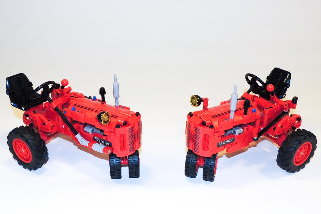 Die wenigen blauen Pins beim roten Traktor sind zu verschmerzen.