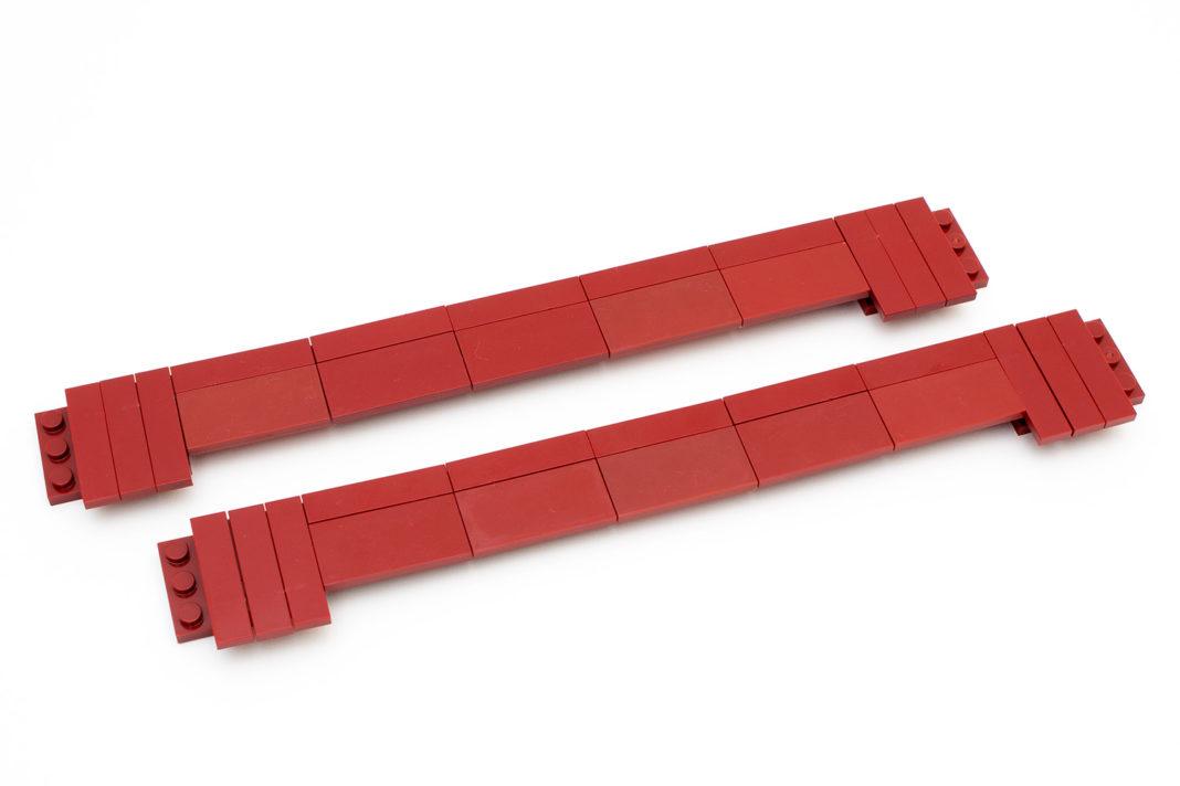 Die Seitenverkleidung - eine Herausforderung in rot...