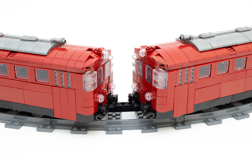 Die Verbindung der beiden Züge wirkt nicht originalgetreu