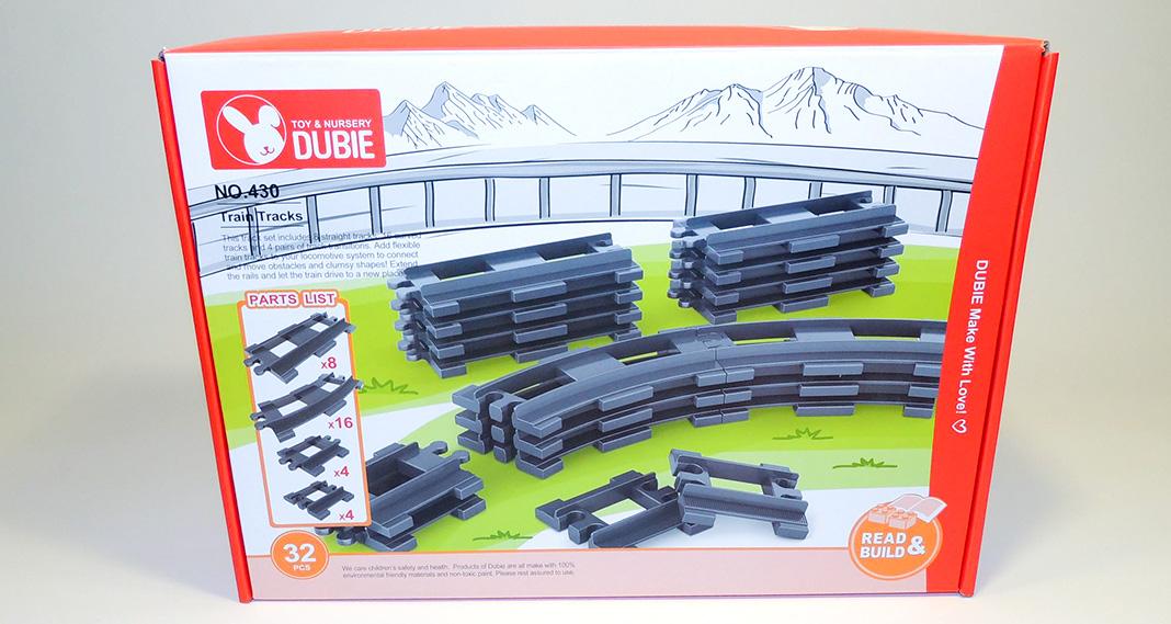 Dubie 430 - 32-teiliges Schienenset für XL-Bausteine im Review