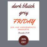 """Die Klemme mit """"Dark Bluish Grey Friday Sale"""""""