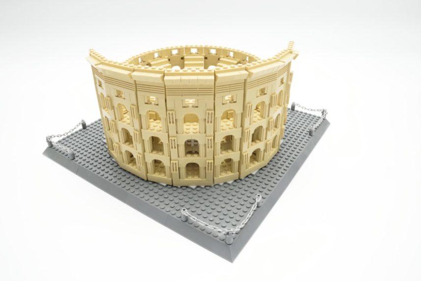 Die Nordseite des Kolosseums - für eine schöne Optik muss der Baumeister die Steine sauber ausrichten