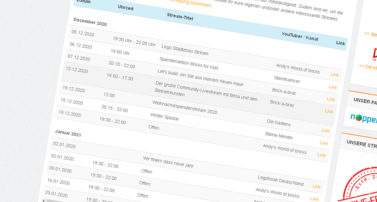 In eigener Sache: Streaming-Kalender geht online
