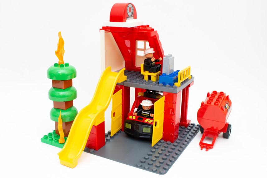 Die Feuerwehrstation von Mubi ist in wenigen Minuten aufgebaut