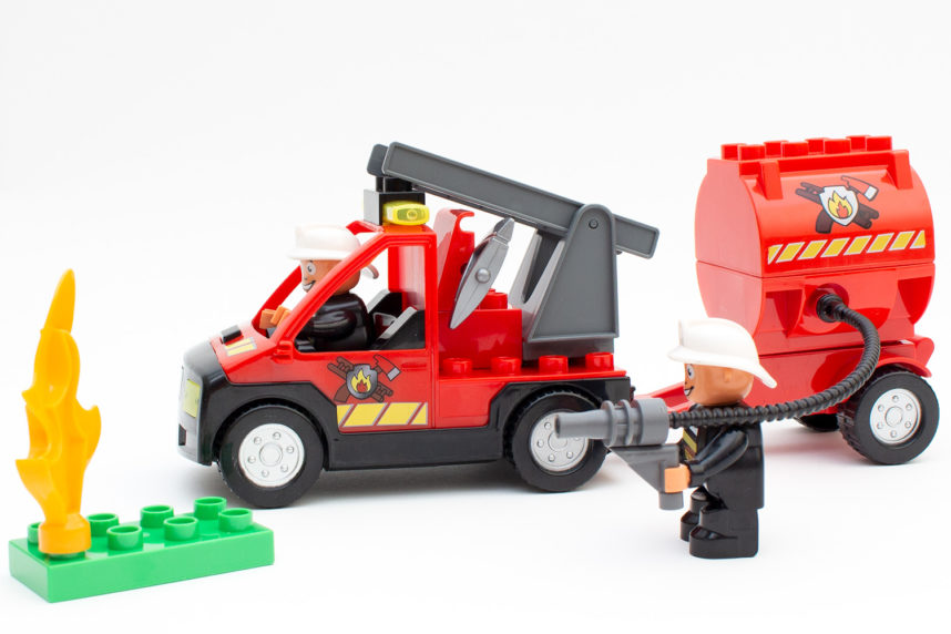 Das Feuerwehrauto kann von alleine fahren - zumindest vorwärts