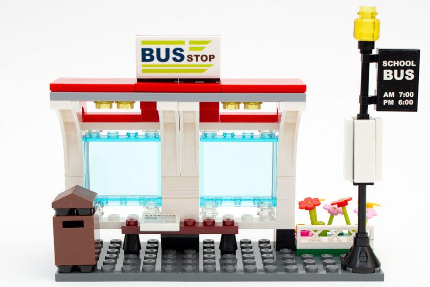Die fertige Bushaltestelle
