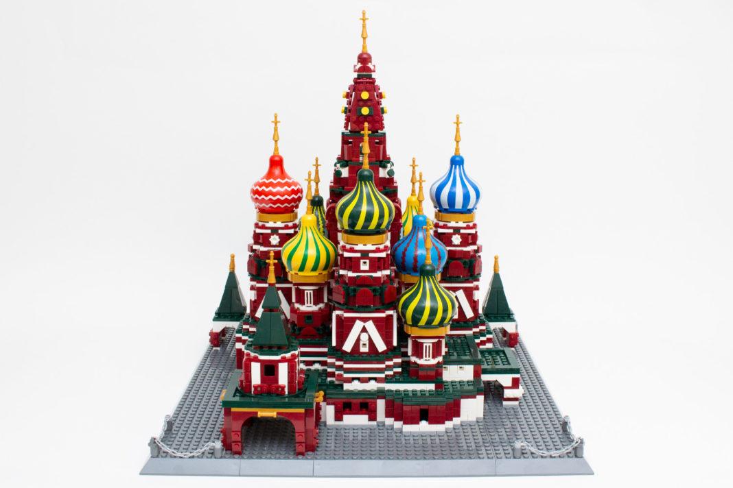 Die Rückseite des Modells der Basilius-Kathedrale