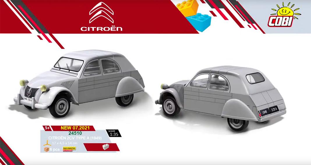 Der legendäre Citroen 2CV von 1949 - bsiher nur in gerenderter Variante